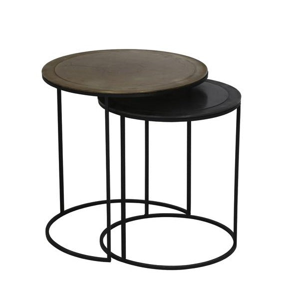 Black and Gold Side Table Nest
