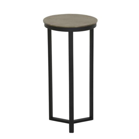 Brass Topped Pillar Table