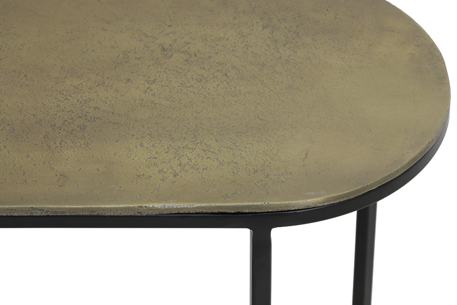 Oval Nest of Side Tables - Brass