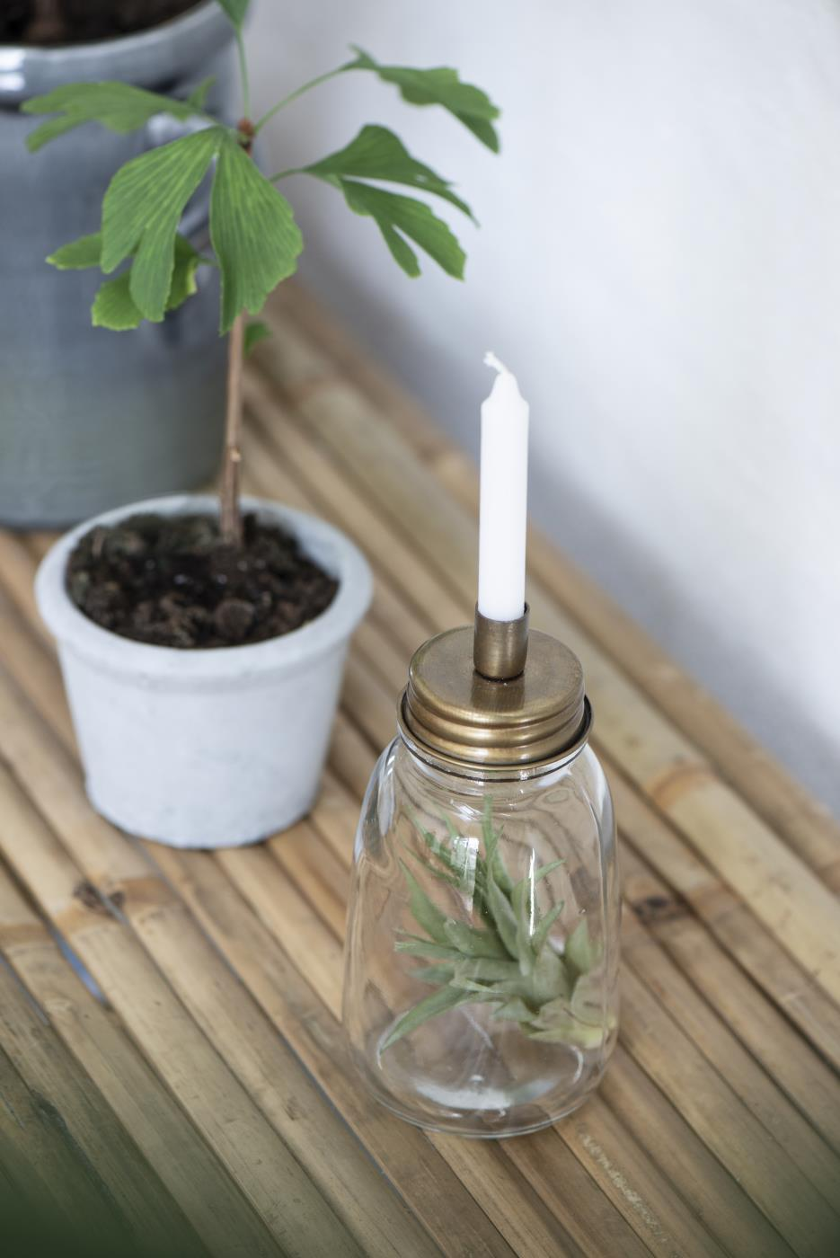 Candle Jar with Holder