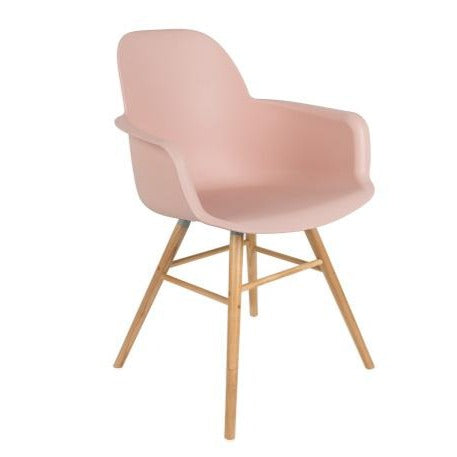 Moulded Armchair in Old Pink
