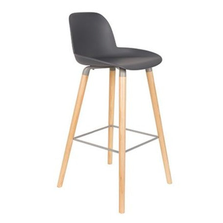 Albert moulded barstool in dark grey