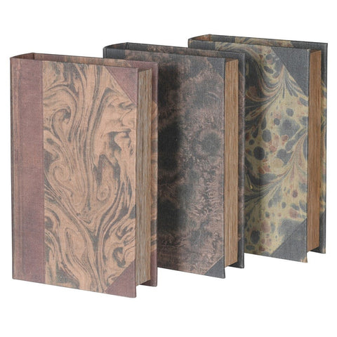 Distressed Marbled Book Boxes