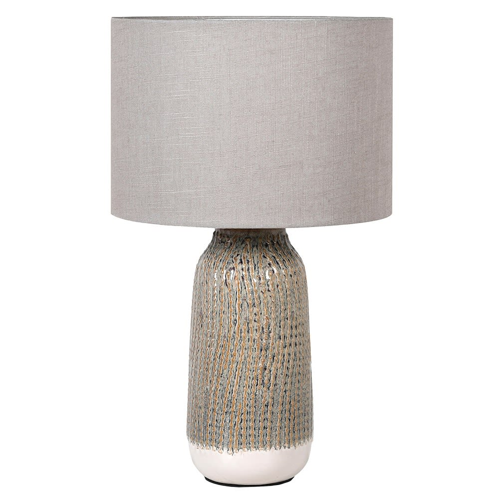 Textured Lamp with Shade