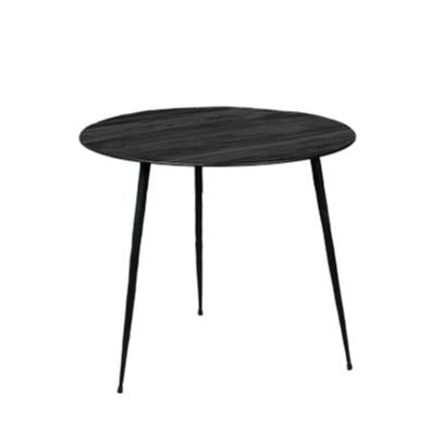 Black Pine and Steel Occasional Table