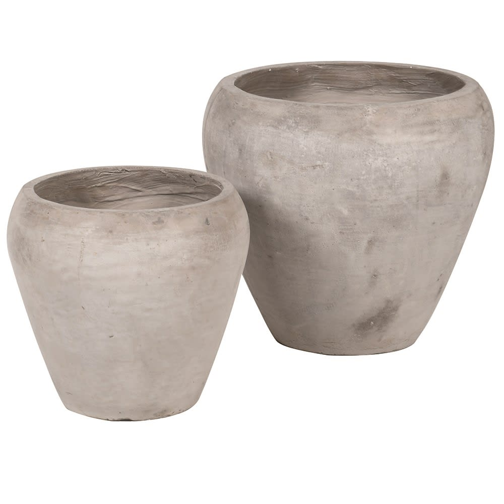 Concrete Effect Tapered Planters Set of 2