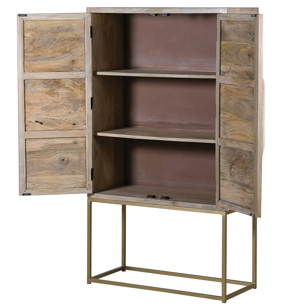 Canned Washed Wood Cabinet