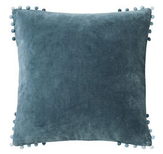 Velvet Bobble Cushion (Assorted Colours)