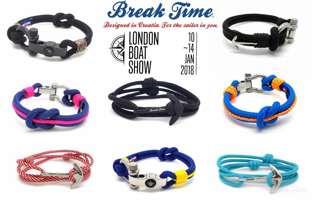 Break Time Croatia nautical bracelets at London Boat Show 2018 | Break Time