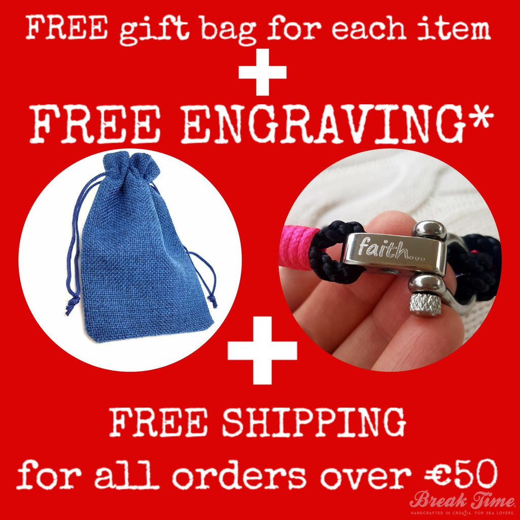 Get the December deal now: Free gift bag + free personalized engraving + free shipping | Break Time