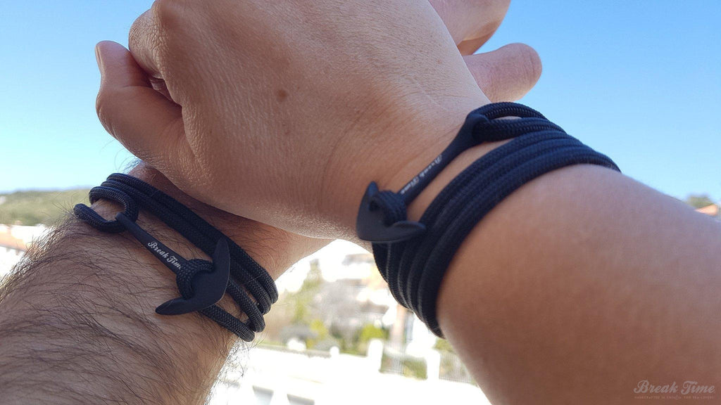 The new all black waterproof anchor bracelet is here! | Break Time