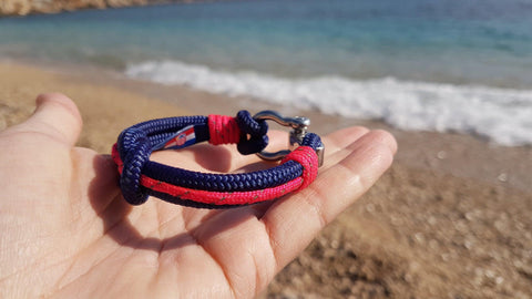 Break Time handmade water resistant nautical bracelets blue pink croatian brand souvenirs dubrovnik split