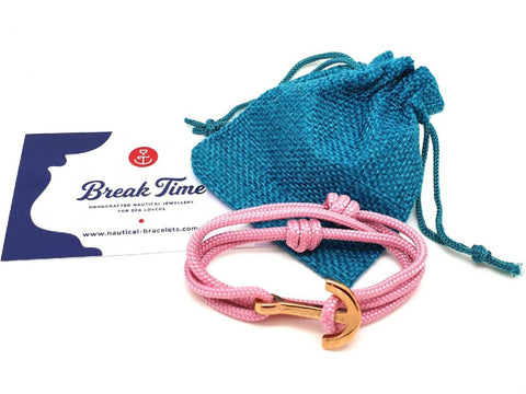 Break Time nautical anchor bracelets for women gift-ready packaging