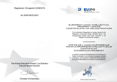 EUIPO Design Certificate for Dubrovnik by Break Time compass bracelet