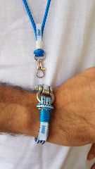 Corporate events original goodie bag gifts - handmade lanyard and bracelet with logo, Croatia