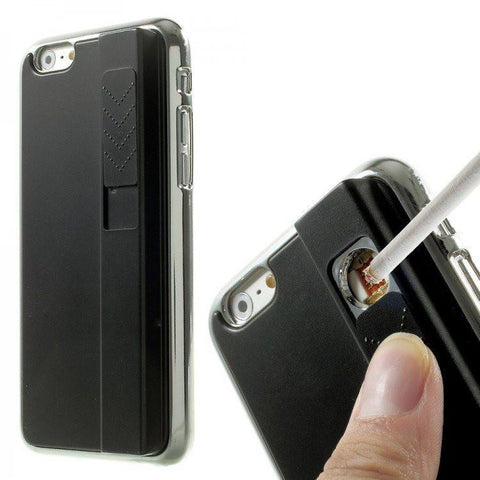 Fire / Lighter Case For Apple iPhone  (Black) The Immart