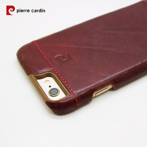 Back Cover - Original Pierre Cardin Case For Apple IPhone 6s Plus And 6 Plus(ELEGANT RED)