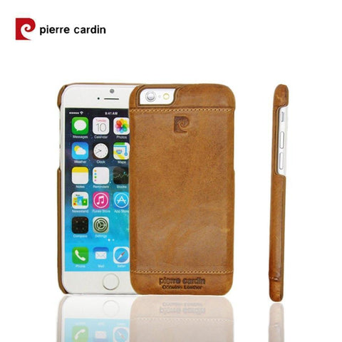Back Cover - Original Pierre Cardin Case For Apple IPhone (ELEGANT BROWN)