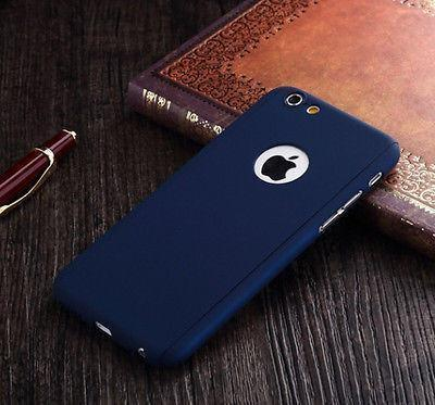 Back Cover - Tuzech IPhone 360 Smart Case With Logo Visible + Free Temper-guard (BLUE COLOUR)