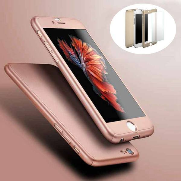 Tuzech iPhone 360 Smart Case With Logo Visible + Free Temper-guard (Rose- GOLD COLOUR) - The Immart - 1
