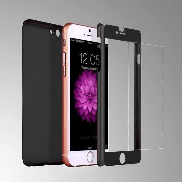 Tuzech iPhone 360 Smart Case With Logo Visible + Free Temper-guard (Rose- GOLD COLOUR) - The Immart - 2