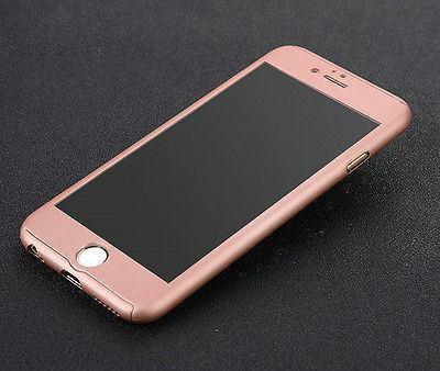 Tuzech iPhone 360 Smart Case With Logo Visible + Free Temper-guard (Rose- GOLD COLOUR) - The Immart - 4