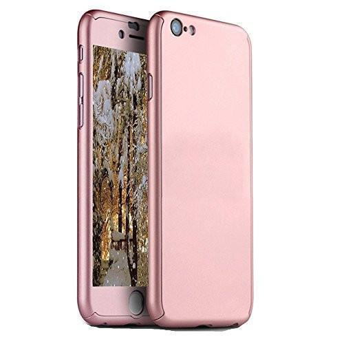 Back Cover - Tuzech IPhone 360 Smart Case With Logo Visible + Free Temper-guard (Rose- GOLD COLOUR)