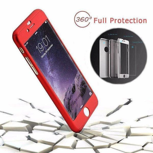 Back Cover - Tuzech IPhone 360 Smart Case With Ring + Free Temper-guard (Choose Colour)