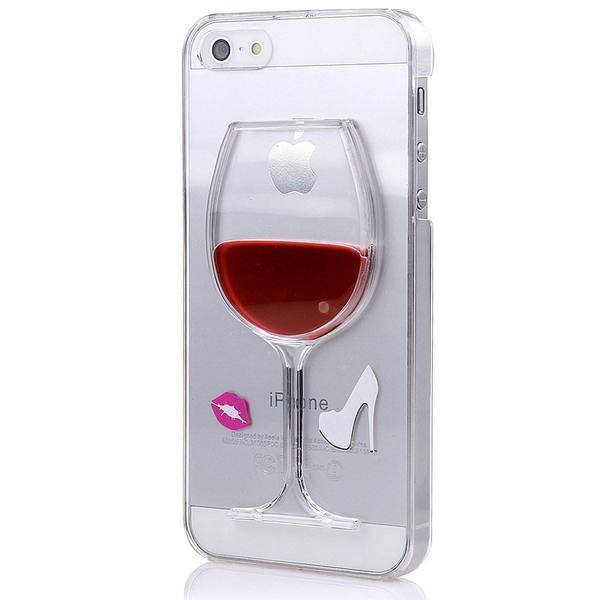 Back Cover - Tuzech IPhone- 5s Liquid Hard (Wine Case) Red