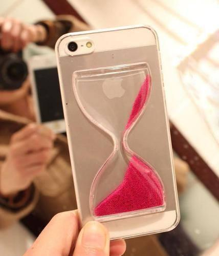 Back Cover - Tuzech Iphone  Liquid Hard Case (Time Glass)