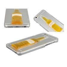 Tuzech Iphone  Liquid Rubber Case (Cocktail Bottle)Yellow - The Immart - 3