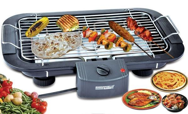 TUZECH ELECTRIC MULTIPURPOSE FLAT- DESIGNED BARBEQUE GRILL - The Immart  - 3
