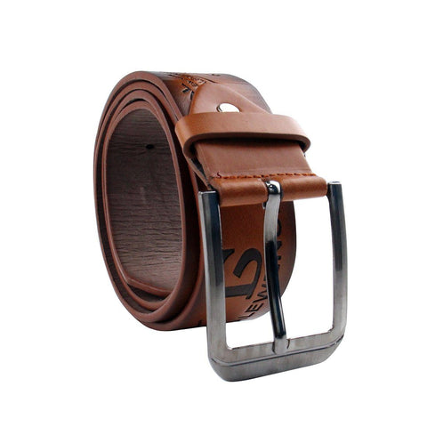 Belt - Pindia Men's Fashion Brown Artificial Leather Belt