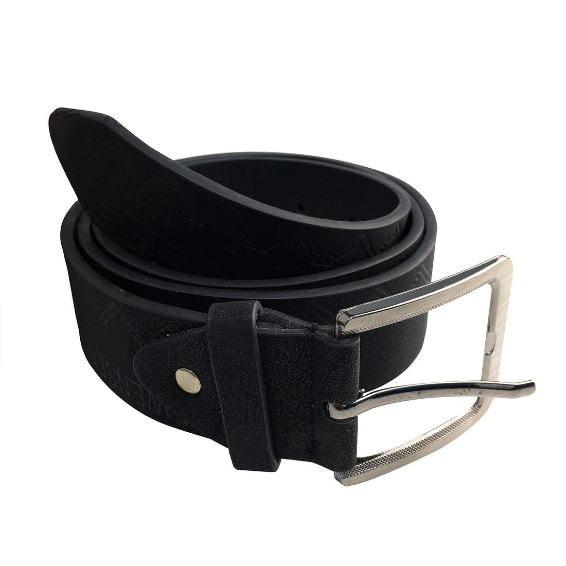 Belt - Pindia PU Leather Party Wear Black Belt For Men