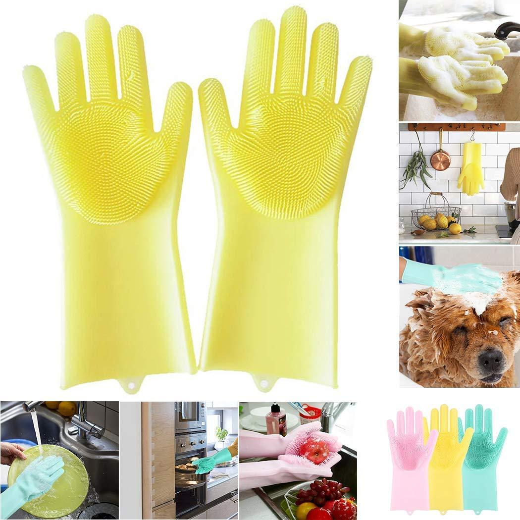 Brush - Magical Multi-Function Reusable Scrubber Cleaning Gloves For Kitchen/Bathroom/Car