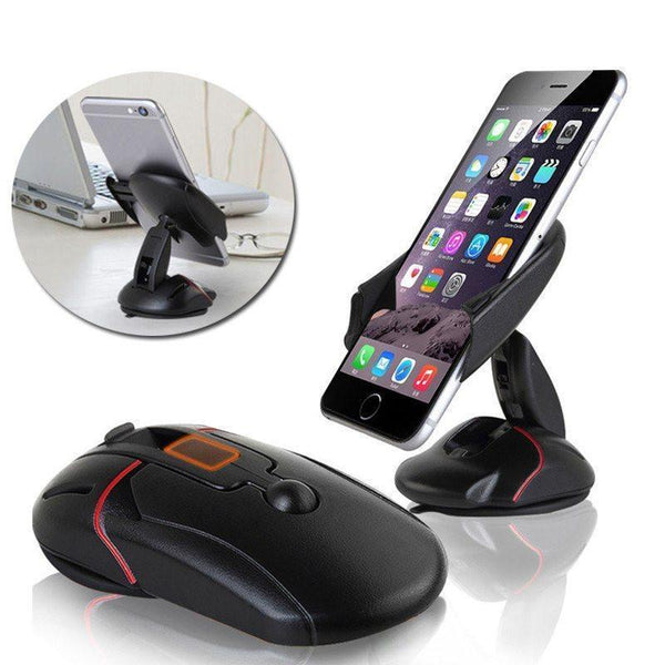 360 Foldable High Quality Mobile Phone Holder ( For All Mobiles) ( Can be Used on Windshield) - The Immart - 1