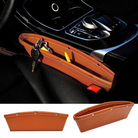 Car Seat - Tuzech Universal Car Side Storage Pure Leather Pouch Holder Organiser ( For All Cars)
