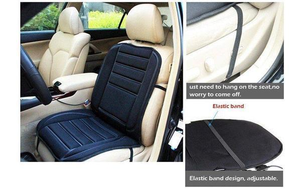 Universal Electronic Car and Home Heated Seat Cover For Back Ache,Waist Ache Or Cold - The Immart  - 10