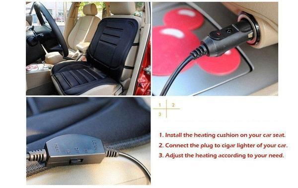 Universal Electronic Car and Home Heated Seat Cover For Back Ache,Waist Ache Or Cold - The Immart  - 9