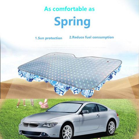 Car Sunshade - Pindia Front And Rear Foldable Car Sunshade