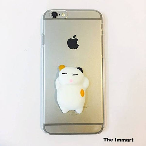 Cases, Pouches - Stress Reliever Squishy Cat With IPhone Case