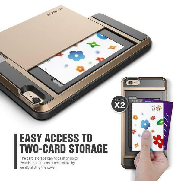 Cases, Pouches - Tuzech Versus Case For Apple IPhone 5, 6, 6s, 6sPlus ( With Credit Card Holder)