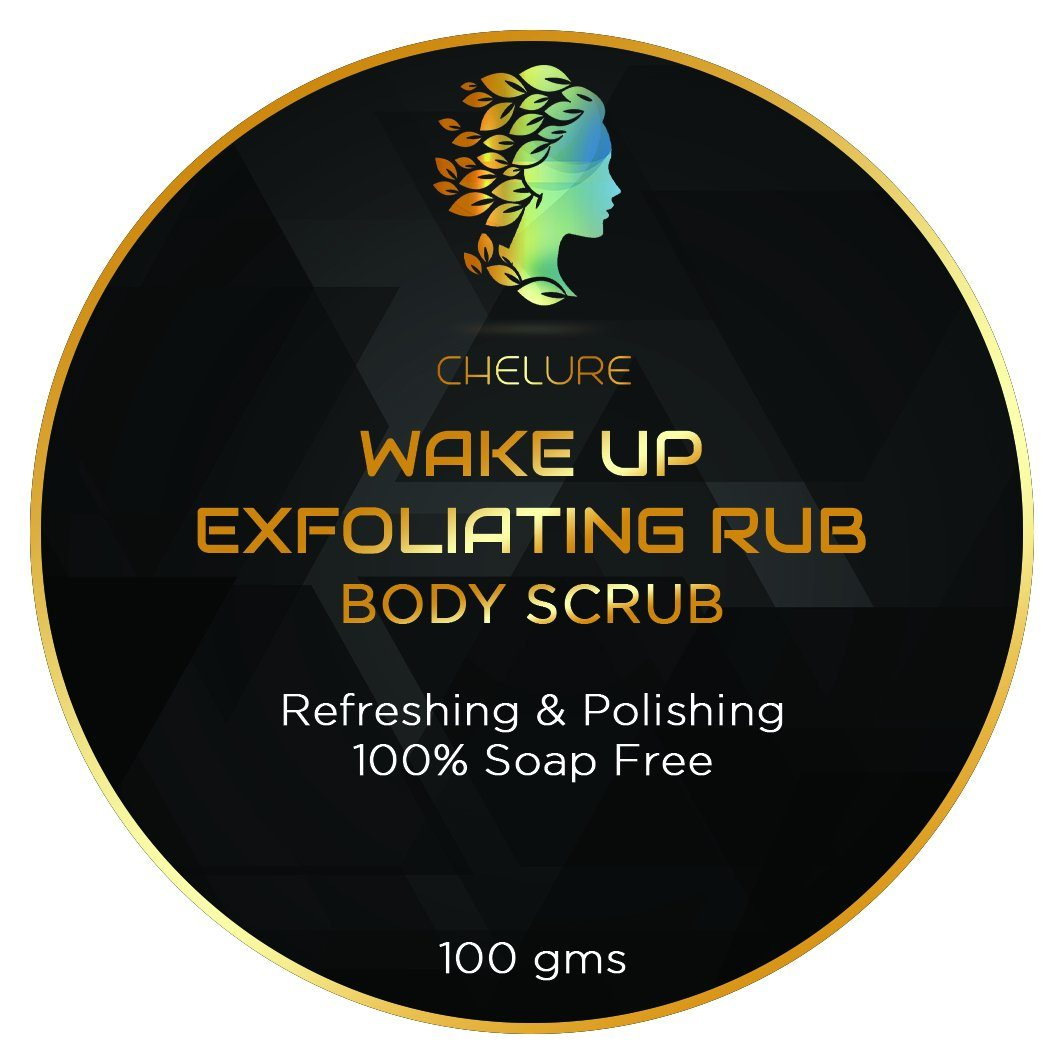 Chelure Wake Up Exfoliating Rub Cool Blue Body Scrub Refreshing & Polishing 100% Soap Free ( With Mint)