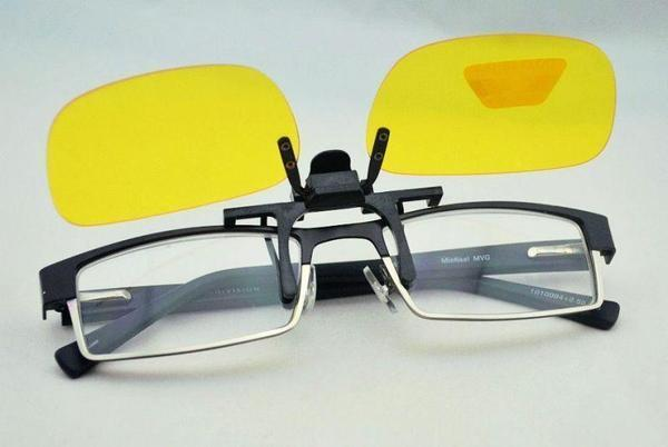 Clip On Night Vision Glasses - Tuzech Bright Night View Anti Glare All Weather Clip Ons Drive Safe