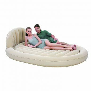 Comfort Quest Royal Round Inflatable Air Bed sofa The Immart