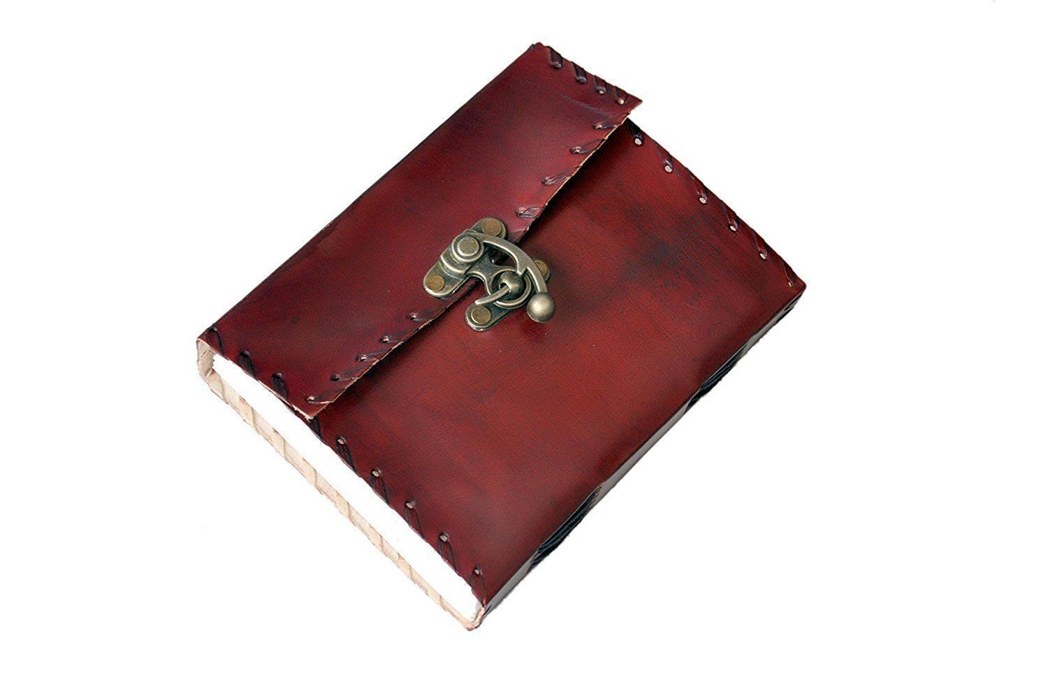 Diary - Miniature Hand Pocket Size Pure Leather Journal Diary With LOCK - Deal Of The Day