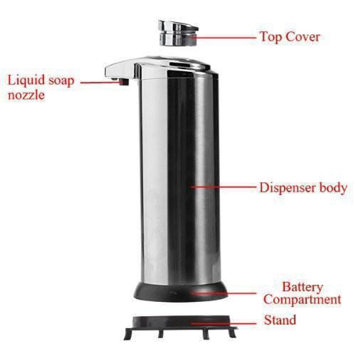 Tuzech Automatic Infrared Sense Soap Dispenser ( NO NEED TO TOUCH) - The Immart  - 4