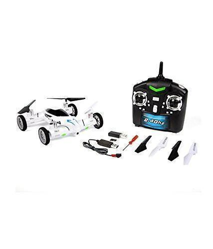 Tuzech FLYING CAR Quadcopter 2.4ghz Space Explorer - White - The Immart