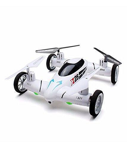 Tuzech FLYING CAR Quadcopter 2.4ghz Space Explorer - White - The Immart  - 1