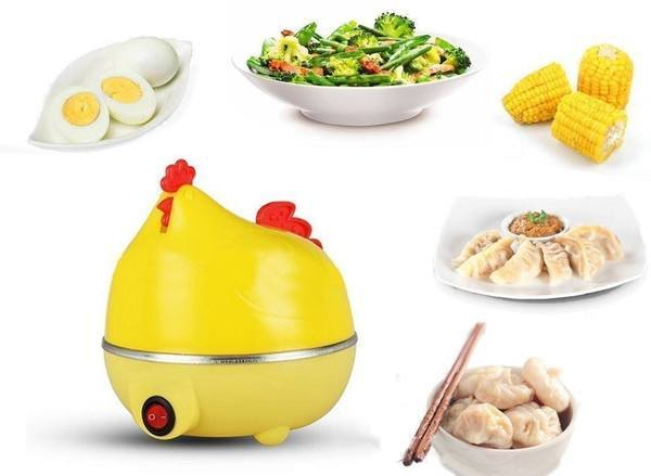 Egg Boiler - Stylish Hen Shaped Egg Boiler Cum Steamer - Can Be Used For Vegetables